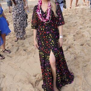 Eva Mendes Floral Maxi Dress